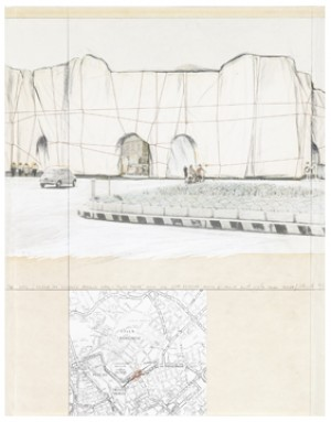 The Wall - Project For Wrapped Roman Wall Muro Torto Near Via Vitti Veneto, Coros D'italia And Viale Muro Torto by Christo JAVACHEFF