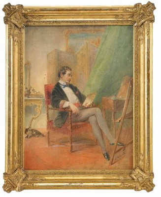 A Self-portrait Of The Artist In His Studio In Paris by Mihaly Von ZICHY