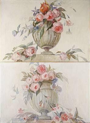 1 Par, Blomstilleben, Tidigare Dörröverstycken by Helena HERSLOW