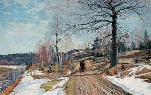Vårlandskap by Carl JOHANSSON