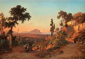 Vy Från Monte Pellegrino Och Palermo. by Gustaf Wilhelm PALM