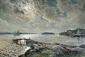 Skymning över Vattnet, Lysekil by Anna GARDELL-ERICSON