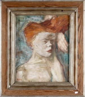 Porträtt Av Rödhårig Kvinna by Kalle HEDBERG