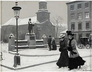 Damer På Promenad by Paul FISCHER