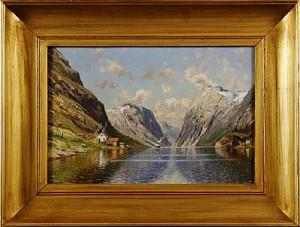 Fjordlandskap by Emma Pastor NORMANN