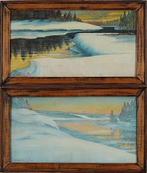 (2) Vinterlandskap by Carl Magnus LINDQVIST