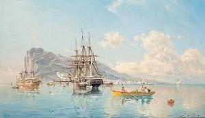 Svensk örlogsfregatt På Gibraltars Redd. by Herman Af SILLÉN