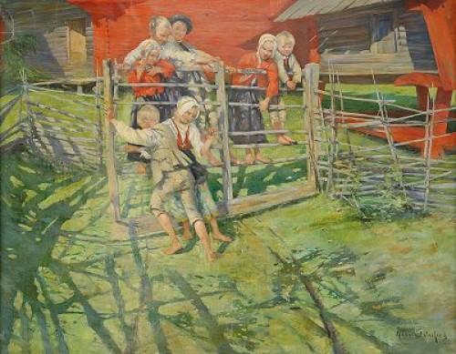 Lekande Barn - Sommar På Fäbodvallen by Allan ÖSTERLIND