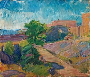 Bergigt Landskap Vid Havet by Karl ISAKSON