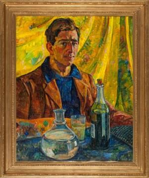 Selvportrett Med Absinth by Paul Rollon 'Pola' GAUGUIN