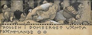 Trollen I Domberget Vänta Främmande by John BAUER