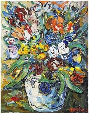 Blomsterstilleben by Albin AMELIN