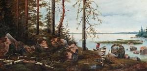 A Finnish Landscape by Wassilij Pawlowitsch SCHREIBER
