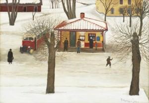 Busstationen I Trosa by Reinhold LJUNGGREN