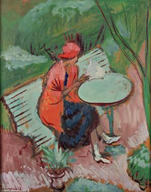 Le Châle Rouge by Isaac GRÜNEWALD