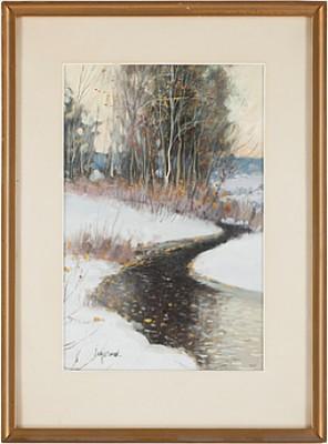 Ringlande Höstbäck I Snöskrud by Andrei Afanasievich YEGOROV