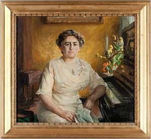 Poträtt Av En Kvinna by Fanny BRATE