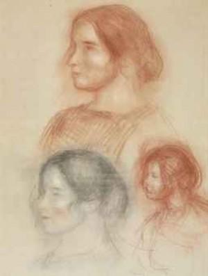Etudes De Tête (gabrielle) by Pierre Auguste RENOIR