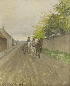 Landskap Med åkdon by Victor FORSSELL