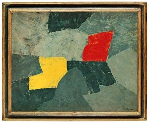 Composition Taches Rouge Et Jaune by Serge POLIAKOFF