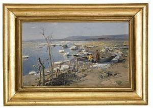 The Spring Near Dniepr River by Sergei Ivanovich VASILKOVSKY