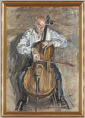 Man Med Cello (stig Källhager) by Alvar JANSSON