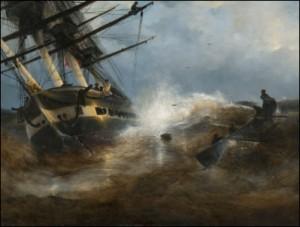 Frigate Aurora by Ivan Konstantinovich AIVAZOVSKY