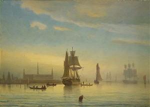 Segelfartyg Vid Kronborgs Slott by Per Wilhelm CEDERGREN