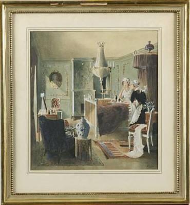 Interiör Med Frukost På Sängen by Rudolf CARLBORG