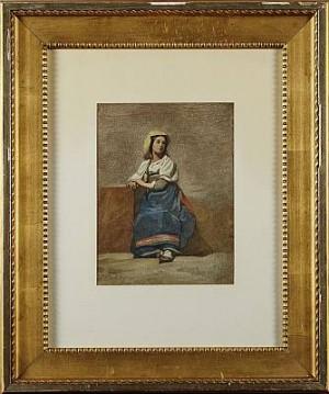 Italiensk Kvinna by Johan Zacharias BLACKSTADIUS