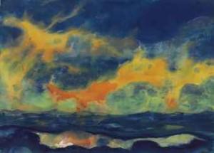 Herbsthimmel Am Meer by Emil NOLDE