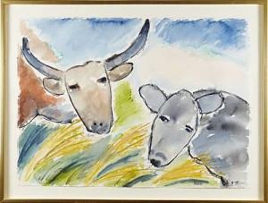 Oxen by Lena LINDERHOLM