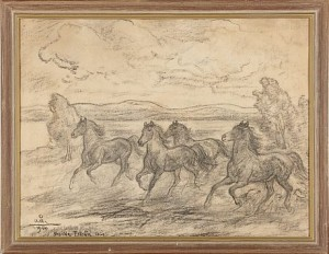 Skenande Hästar by Acke ÅSLUND