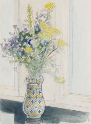 Stilleben Med Blommor by Hilding LINNQVIST