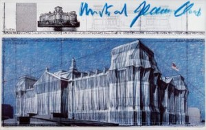 Wrapped Reichstag, Postcard by Christo JAVACHEFF