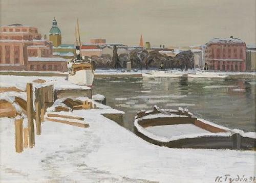 Utsikt Mot Karl Xii:s Torg I Vinterskrud - Stockholm by Nils TYDÉN