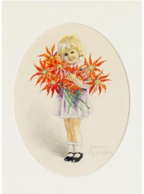 Flicka Med Blommor by Jenny NYSTRÖM