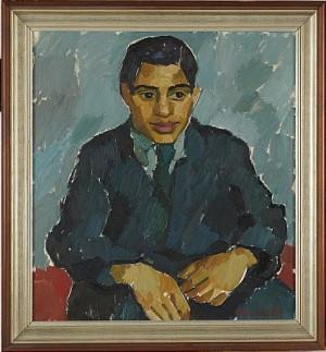 Porträtt Av Ung Man by Gerhard NORDSTRÖM