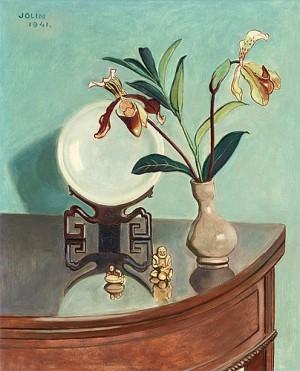 Stilleben Med Orkidéer Och Orientaliska Föremål by Einar JOLIN