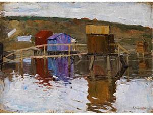 Hütte Am Ufer by Arnold Borisovich LAKHOVSKY