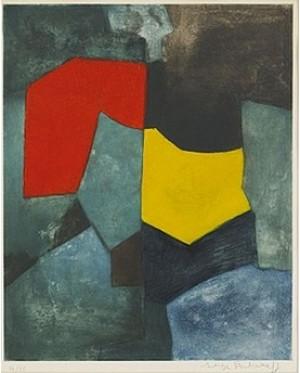 Composition Rouge, Verte, Jaune Et Bleue by Serge POLIAKOFF
