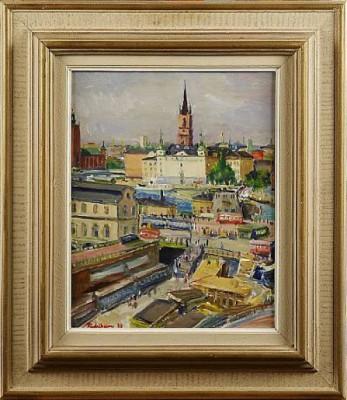 Vy över Slussen Och Riddarholmen by Carl Einar 'Figge' FREDRIKSSON
