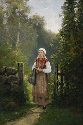 Kvinna Vid Grind by Severin NILSON