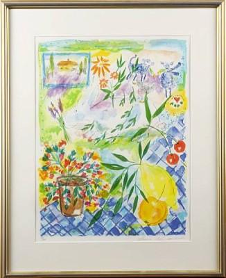 Interiör Med Blommor by Lena LINDERHOLM