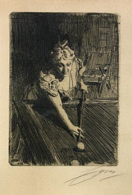 Biljard by Anders ZORN