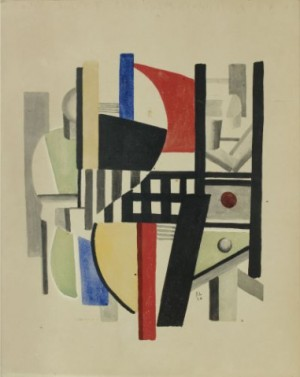 Composition Cubiste, (le Garcon De Cafe) by Fernand LEGÉR