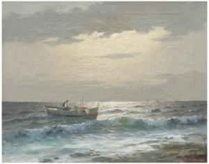 Fiskare Till Sjöss by M RINALDI