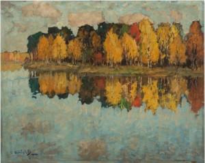 Herbst Am See by Konstantin Ivanovich GORBATOV