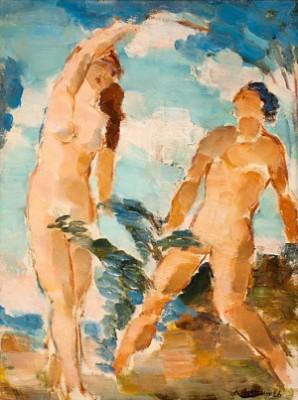 Adam Och Eva by Albert HOFFSTEN