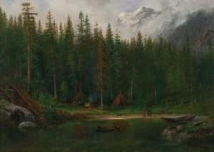 Indian Camp by Albert BIERSTADT